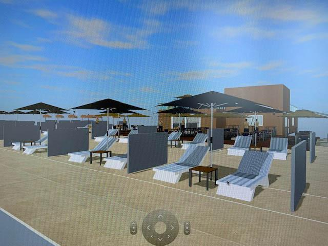 Rendering pannelli in spiaggia